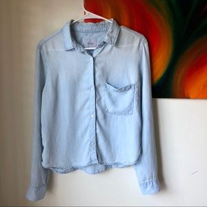 Rails Button Up Blue Blouse